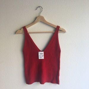 Red Danielle knit tank